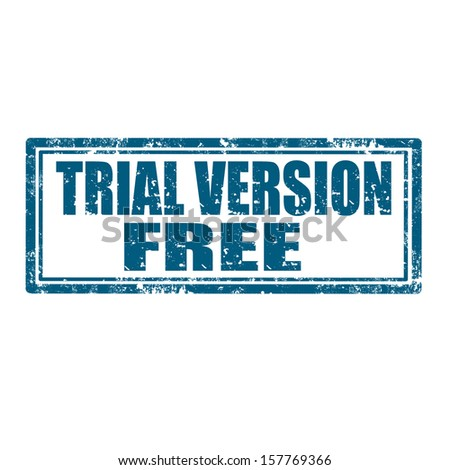 Grunge rubber stamp with text Trial Version Free,vector illustration