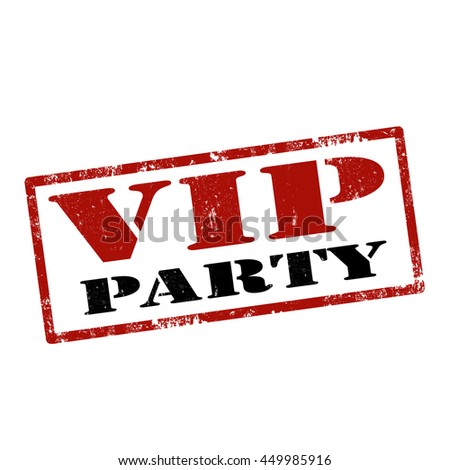 Grunge rubber stamp with text VIP Party,vector illustration - stock vector