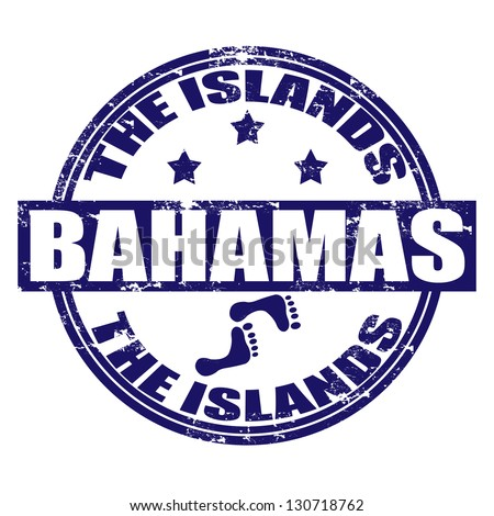 Grunge rubber stamp with the name of the Bahamas islands written inside the stamp, vector illustration