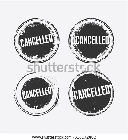 Grunge rubber stamp with the text Cancelled - stock vector