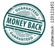 Grunge rubber stamp with the text Money Back written inside the stamp, vector illustration - stock photo