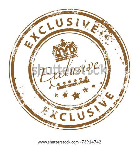 Grunge rubber stamp with the word exclusive written inside the stamp - stock vector