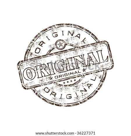 Grunge rubber stamp with the word original written inside the stamp - stock vector