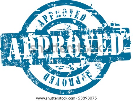 Grunge rubber stamp with word approved. See other rubber stamps in my portfolio. - stock vector