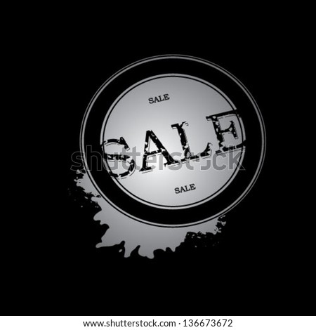 grunge sale stamp vector illustration - stock vector
