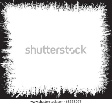 grunge scribbles frame - stock vector