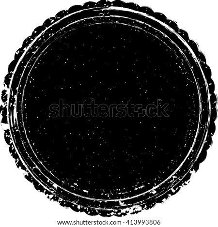 Grunge Seal Logo .Distressed Stamp Texture . Rounded Post Stamp Collection . Vector  - stock vector