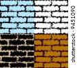 Grunge seamless vector patterns. - stock vector