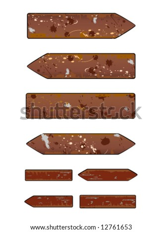 grunge sign vector - stock vector