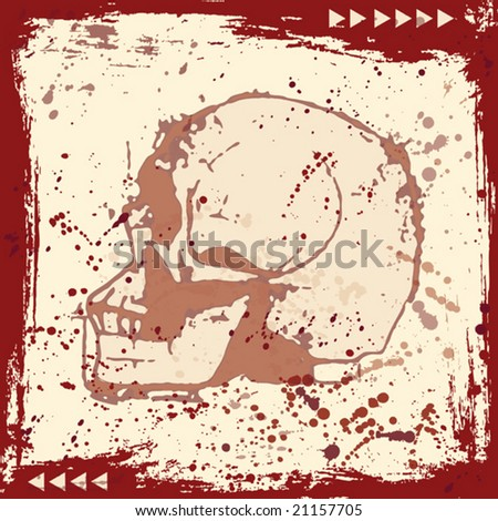 Grunge Skull Background (vector). In the gallery also available XXL jpeg image made from this vector