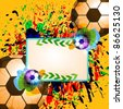 grunge soccer ball background - stock vector