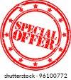 Grunge special offer rubber stamp, vector illustration - stock vector