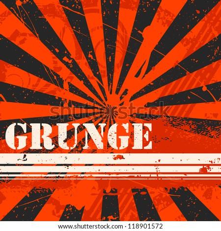 Grunge Splatter Background - stock vector