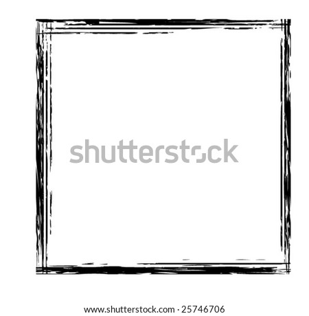Grunge square border vector