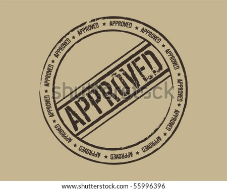 Grunge stamp approved - stock vector