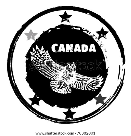 Grunge  stamp. Canada theme - stock vector