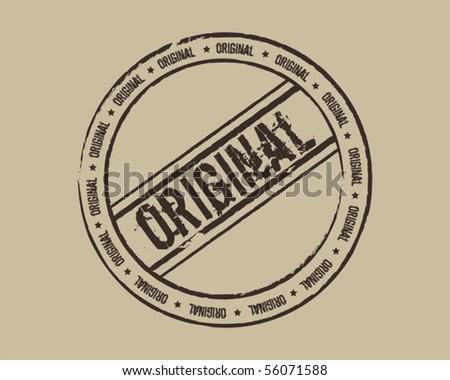 Grunge stamp original - stock vector