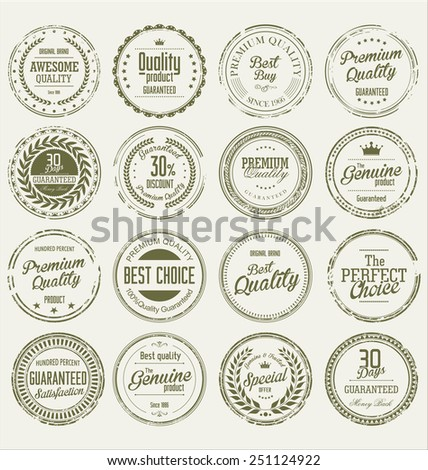 Grunge stamp Premium Quality Vector collection - stock vector
