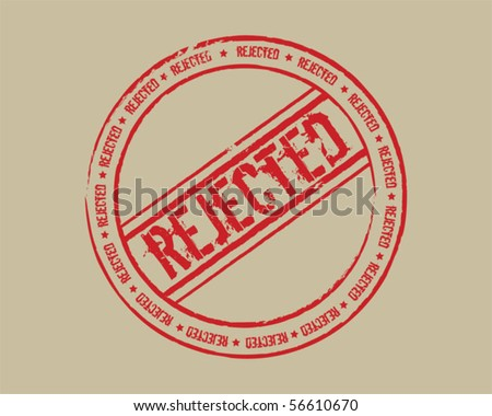 Grunge stamp rejected red - stock vector