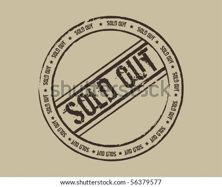Grunge stamp sold out - stock vector