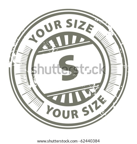 Grunge stamp with the clothing size S written inside, vector illustration - stock vector