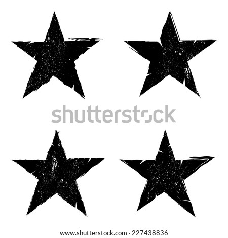Grunge star background textures set, Vector background EPS 10 - stock vector