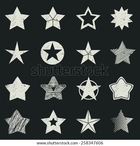 Grunge star pictogram - stock vector