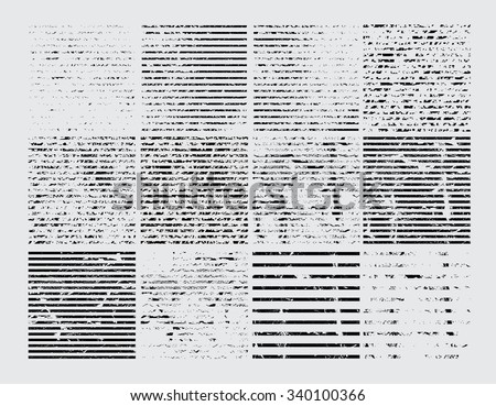 Grunge Stripes Collection. Distressed, Dirty, Scratch or Grungy Texture. Vector Illustration.  - stock vector