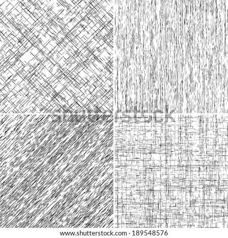 Grunge Stroke overlay backgrounds set for your design. EPS10 vector. - stock vector