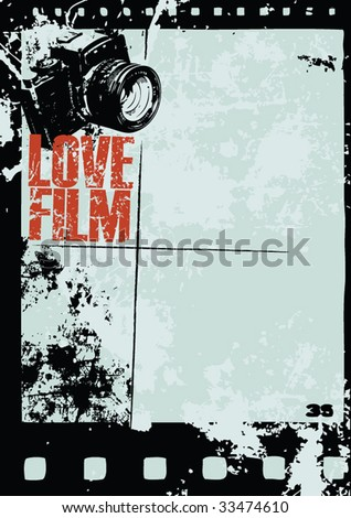 Grunge Style Camera Layout Vector Stock Vector 24872644 - Shutterstock