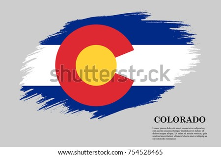 grunge styled flag colorado state usa stock vector 2018 754528465 rh shutterstock com Colorado Flag Outline colorado state flag vector