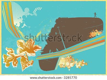 Grunge styled urban retro background.  Vector illustration. - stock vector