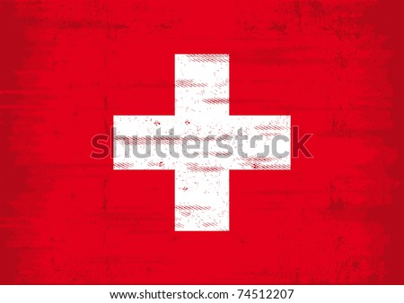 Grunge swiss flag  A swiss flag with a grunge texture - stock vector