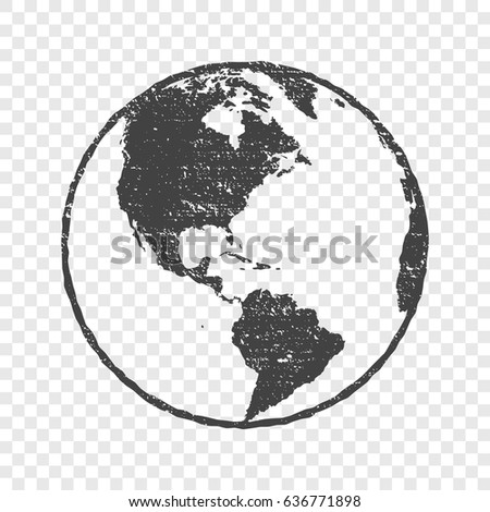 Grunge texture gray world map globe stock vector 636771898 grunge texture gray world map globe transparent vector illustration gumiabroncs Gallery