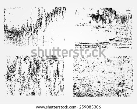 Grunge textures.Distress background set.Abstract vector template. - stock vector