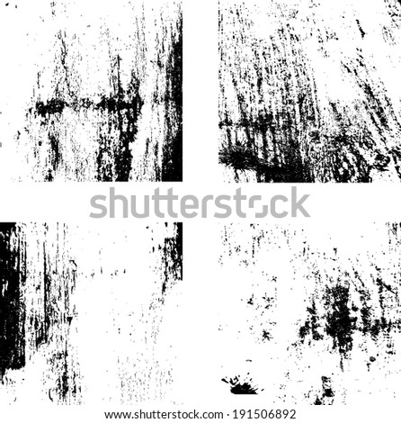 grunge textures set. background. vector illustration.