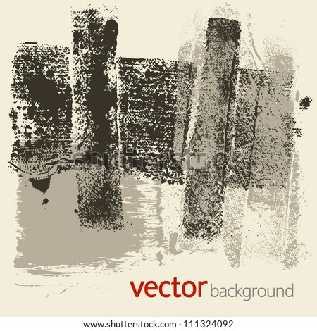 Grunge textures, vector set 1 - stock vector