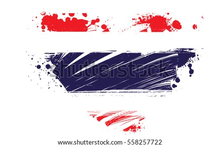 Grunge Thailand national flag in heart shape. Patriotism concept.