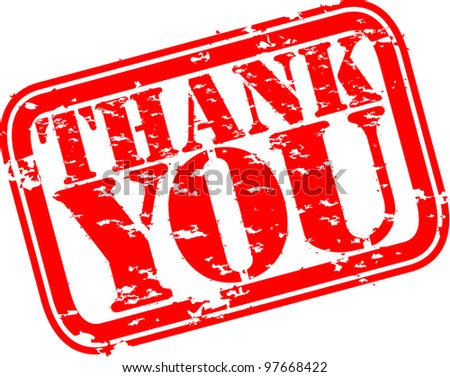 Grunge thank you rubber stamp, vector illustration - stock vector