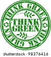 Grunge think green rubber stamp, vector illustration - stock vector
