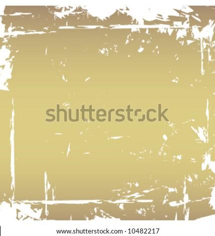 Grunge torn vector border frame - stock vector