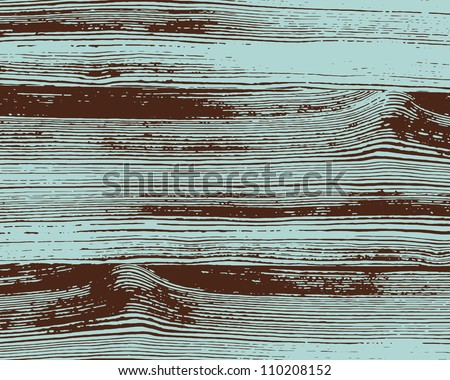 Grunge two colors wooden wall background. Vector illustration. - stock vector