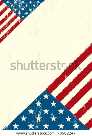 Grunge US letter. A grunge poster with a US flag for your advertising - stock vector