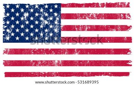 Grunge USA Flag Vintage American Vector Stock 2018 531689395
