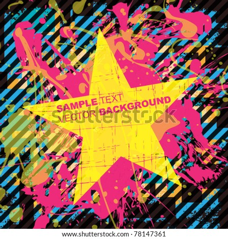 Grunge vector abstract illustration - stock vector
