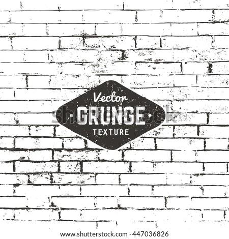 Grunge vector background texture. Brick wall distressed texture. - stock vector