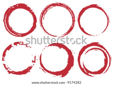 Grunge vector circle stains - stock vector