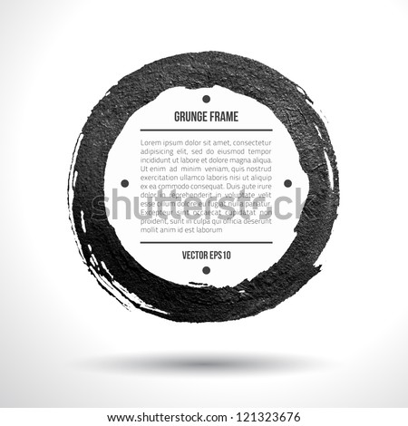 Grunge vector frame. Grunge background. Watercolor background. Retro background. Vintage background. Business background. Abstract background. Hand drawn. Texture background. Abstract round shape - stock vector