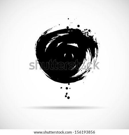 Grunge vector hand drawn background. Ink splatter - stock vector