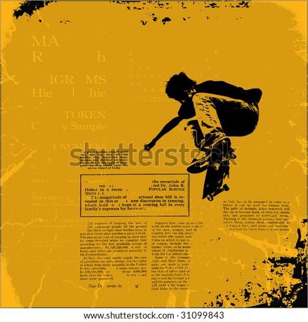 grunge vector illustration - stock vector